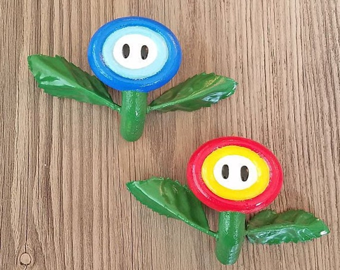 Fire Flower / Ice Flower Drawer Pulls | Super Mario Bros