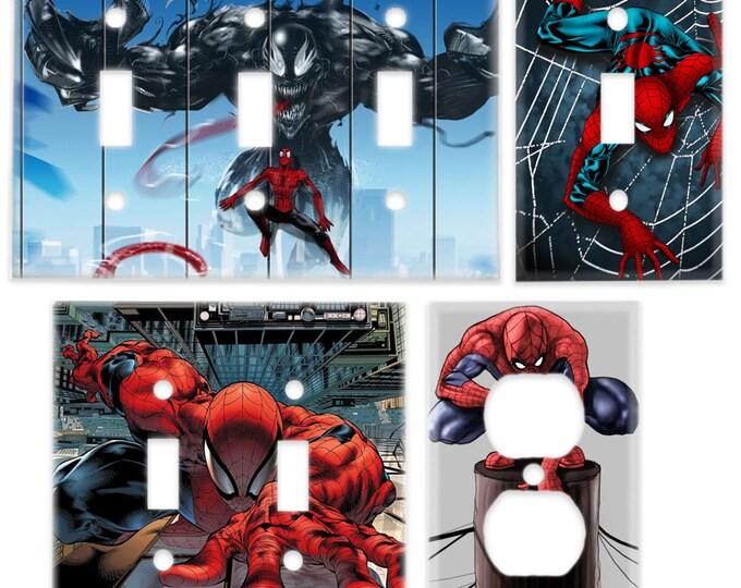 Spider-Man Light Switch Plate (SpiderMan Venom) Marvel Superhero Room Decor Comic Book Decor Outlet Cover Comic Book Decor