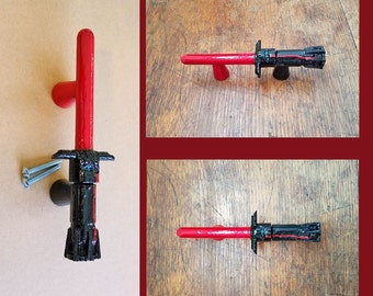 Star Wars Light Saber Drawer Handle - Kylo Ren Lightsaber Star Wars Decor Furniture Pull Handle Drawer Pull Cabinet Handle