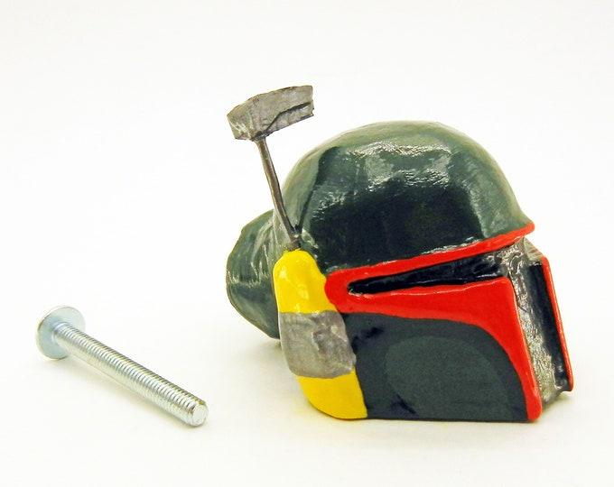 Featured listing image: Boba Fett Helmet Drawer Pulls   Star Wars