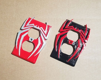 Spiderman Light Switch Cover / Outlet / GFCI - 3D Spider-Man Logo Wall Plate for your Awesome Marvel Superhero Room Decor