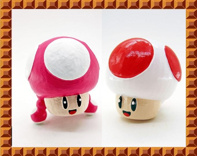 Toad / Toadette Drawer Knobs   Super Mario Bros