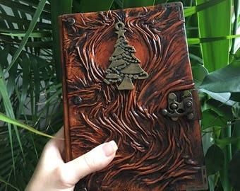 New Year's Journal, Leather Journal, Leather Notebook, Travel Journal, Steampunk Journal, School Journal, Gift Idea