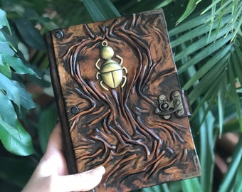 Steampunk Journal, Leather Journal, Real Leather Notebook, Leather Sketchbook