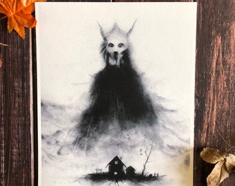Roots of Hell Print- 9x12 Grim Reaper, Satanic, WItchcraft, Live Deliciously