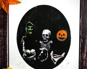 Halloween 3 Season of the Witch-Dark Art Print, Michael Myers, John Carpenter, Silver Shamrock