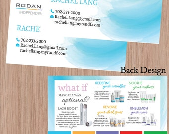 Rodan and fields business cards etsy rodan and fields rodan fields skin care products printable rodan and fields business cards rf rf consultant colourmoves