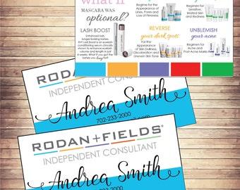 Rodan and fields business cards etsy rodan and fields rodan fields skin care products printable rodan and fields business cards rf rf consultant colourmoves