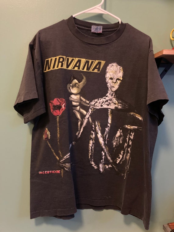 Vintage Nirvana Incesticide Band T Shirt Early 90s