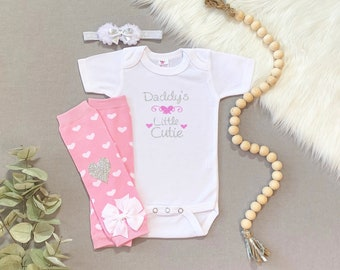 Baby Girl Clothes, Baby Girl Outfit, Baby Girl Take Home Outfit, Daddys Girl Bodysuit, Daddys Girl Outfit, Baby Girl Fathers Day outfit