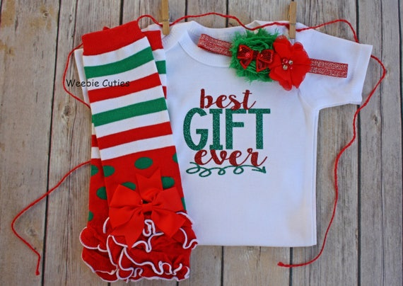 6c8fe1c6d5eeb Baby Girl Christmas Outfit Baby's First Christmas Baby | Etsy