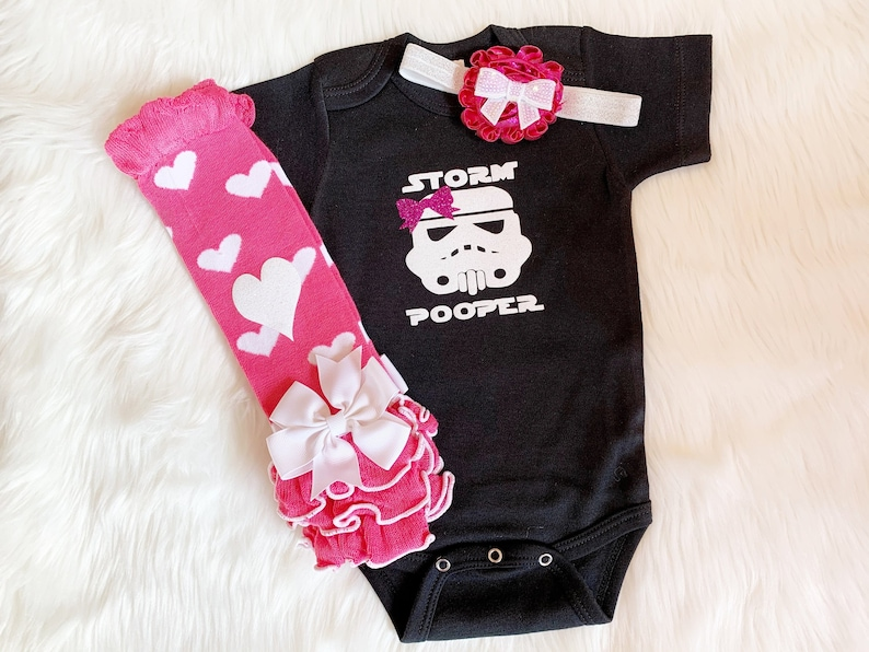 Star Wars Baby Girl Bodysuit Star Wars Baby Outfit Star Wars image 0