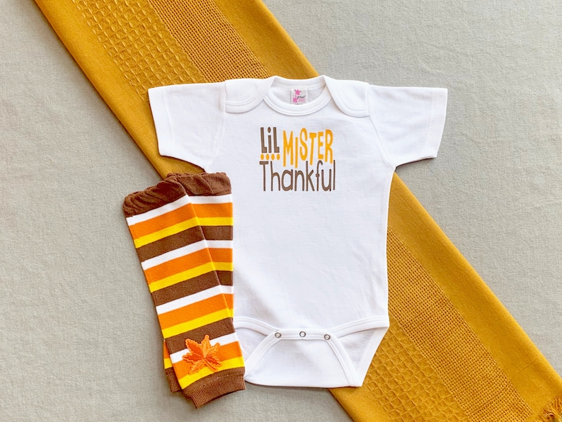 Baby Boy Clothes My First Thanksgiving Outfit Baby's image 0