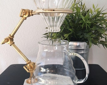 Brass Coffee Pour Over - Coffee Drip - Coffee Cone - Coffee Brewer