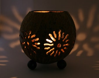 Coconut Shell Candle - Large Natural