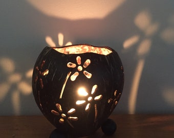 Coconut Candle Holder