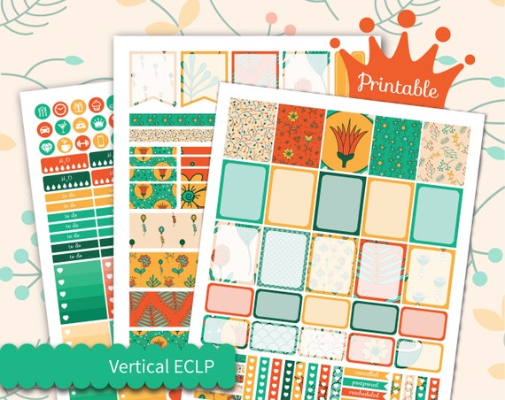 Fall Weekly Kit For Erin Condren Planner Stickers Printable Etsy