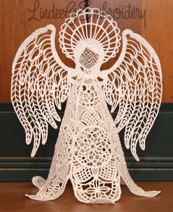 Machine Embroidery Design Free Standing Lace Heirloom Angel Etsy