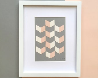 Mini Paper Collage, Pink Arrows