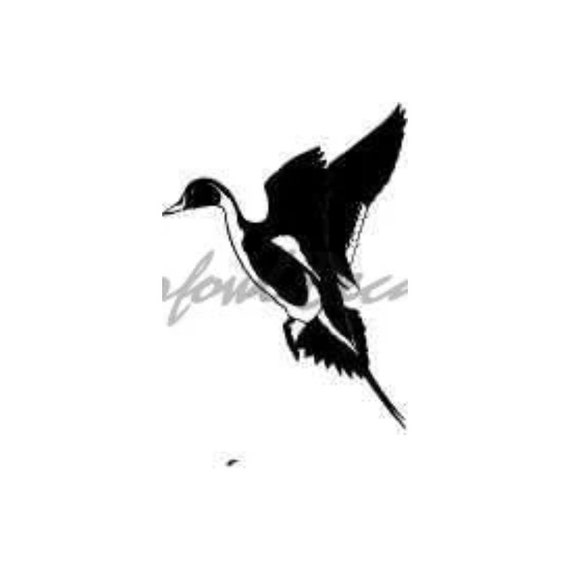 American Flag Drake Pintail Duck Hunting Water Fowl Decal