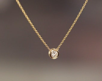 4021fbb4d83 Solitaire Diamond Necklace