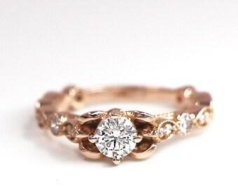 Diamond Wedding Band, Diamond Wedding Ring, Diamond Engagement Band, Diamond Engagement Ring, Antique Diamond Ring