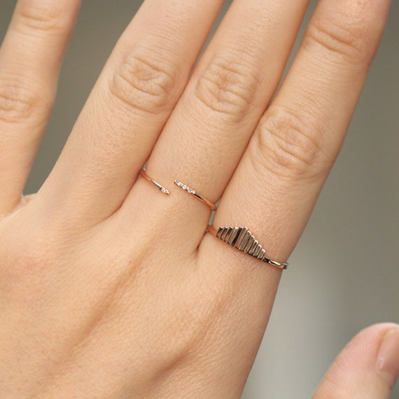 gold plated ring minimalist ring narrow Open ring minimalist rose gold filled 1 mmstacking ring thin rings adjustable ring