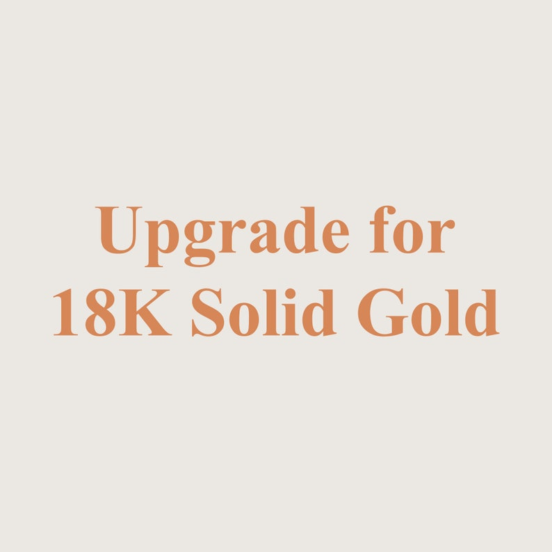 Upgrade for 18k Solid Gold for 1mm  1.3mm Band image 0