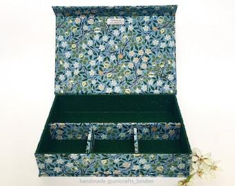 William Morris Floral Design Handmade Box • Fabric Covered • Multipurpose Box • Home Decor
