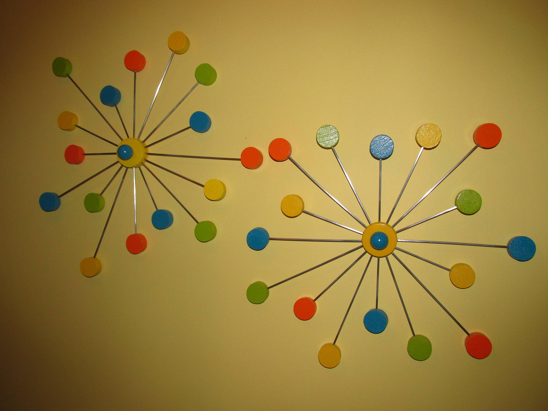 Pair Of Retro Atomic Mid Modern Century Sputnik Wall Decor | Etsy