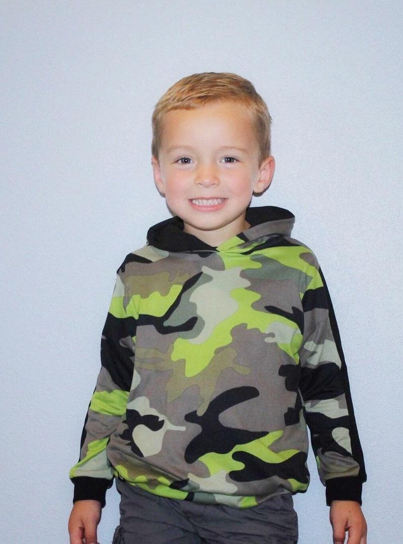 Neon Camo Hoodie boys hoodie kids girls hoodie pocket tee camo kids clothing