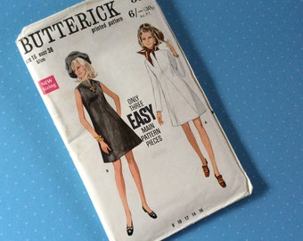 "Vintage Dress Sewing Pattern - Butterick 5506 - Retro 1960's Dressmaking Pattern - Dress Sewing Pattern - Size 16 Bust 38"" Hip 40"" Sewing"