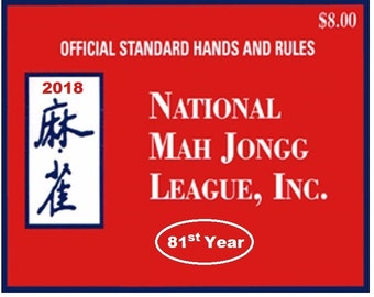 National Mah Jongg League 2018 Card - Official Hands and Rules