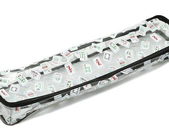 Mah Jongg Multi-purpose (XL-Clear) Tile/Rack Color Tile Zippered Case (NEW)
