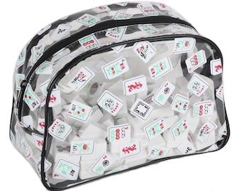 Mah Jongg Zippered Tile Bag for Cosmetics or Mahjong Tiles