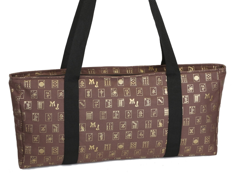 Case Only Brown and Gold Mah Jongg Set Soft Carrying Case