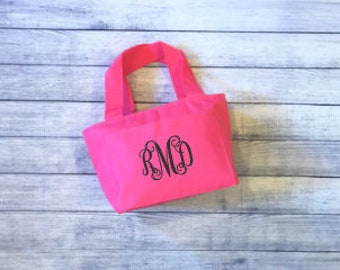 Personalized Lunch Tote - Pink