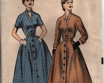 Advance 6223 1950s New Look Coatdress Pattern sz 14 Beautiful