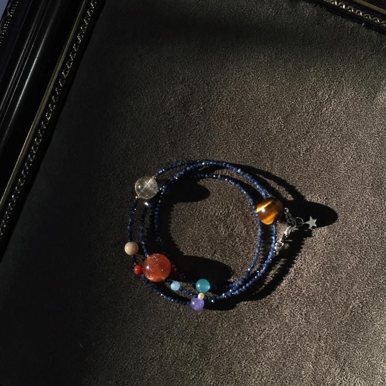 SEPTEMBER Birthstone Sapphire Birth Chart bracelet} Personalized astrology solar system planets bracelet X-Stars {ROYAL