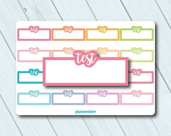 School Stickers #902-032-056L-WH ECLP Colored Tracking Stickers ScriptSchool Stickers for Planner