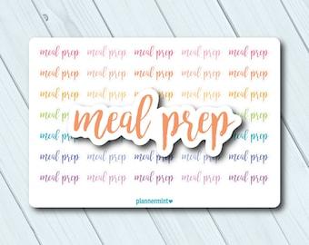 Meal Prep Planner Stickers - Word Outline - Erin Condren - Happy Planner - Food - Menu - Meals - Meal Planning - Matte or Glossy
