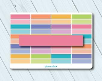 Blank Header Planner Stickers - Erin Condren Life Planner - Happy Planner - Plain - Solid - Unmarked - Matte or Glossy