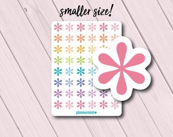 Mini Asterisk Planner Stickers - Erin Condren - Happy Planner - Functional Icon Deco - Important - Flower - ECLP - Bright Rainbow