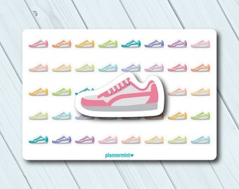 Running Shoe Planner Stickers - Icon - Erin Condren Life Planner - Happy Planner - Weight Loss - Exercise - Cardio - Matte or Glossy