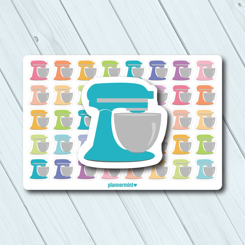 Stand Mixer Planner Stickers Icon Erin Condren Life Etsy