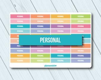 Personal Header Planner Stickers - Erin Condren Life Planner - Happy Planner - Reminder - Important - Organization - Matte or Glossy