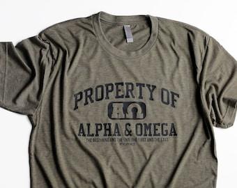 47548330cc2 Christian T Shirts for Men, Christian Shirts, Dad Birthday Gifts for Men,  Christian T Shirt Designs, Alpha & Omega, Cool T Shirts for Men