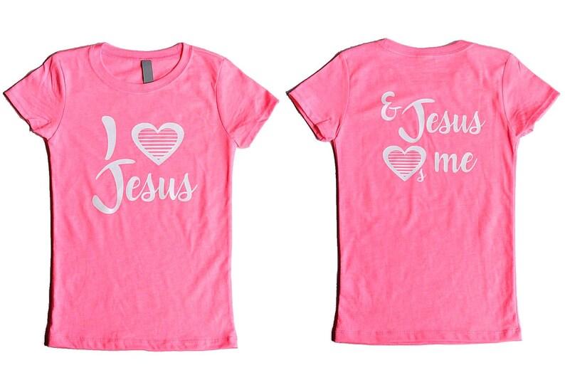 fa7279e41 Jesus Loves Me Shirts Christian T Shirts for Girls Christian   Etsy