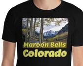 Maroon Bells Colorado T-Shirt / Aspen / Hiking / 14ers / Travel / Vanlife / Instagram / Photography / Adventure /