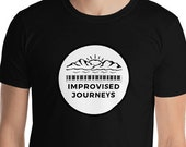 Improvised Journeys T-Shirt / Piano and Travel / Outdoor / Wandelrust / VanLife / Music / Wandering / Travel